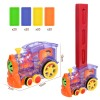 (70kits)Kids Domino Train Car Set Sound Light Automatic Laying Domino Brick Colorful Dominoes Blocks