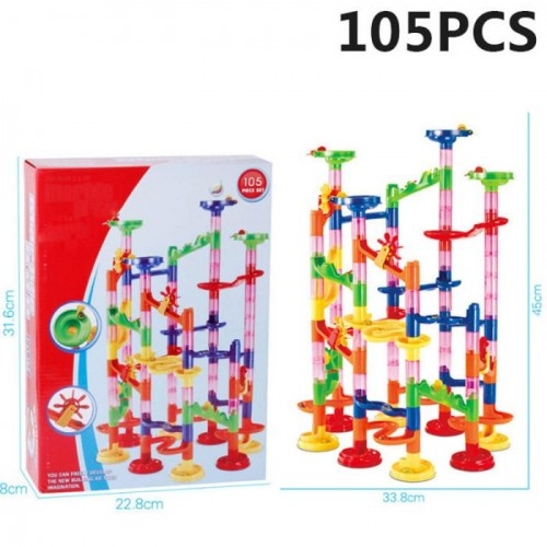 New Run Race Coaster Set Railway Toys Track Ball Building Blocks Coaster Maze For Kids