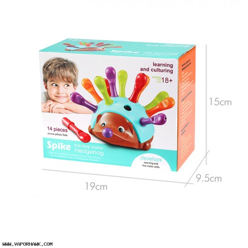 (3Kits) Children's Concentration Training Fine Hand-eye Coordination hedgehog kindergarten early Education Enlightenment Cognition Free shipping