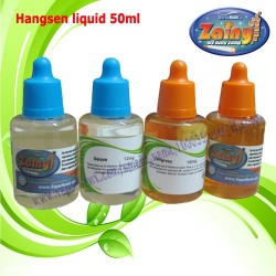 E-cigarette E-juice Hangsen 50ml E-liquid 20pcs with two flavors 5.0 us dollars per bottle free shipping worldwide